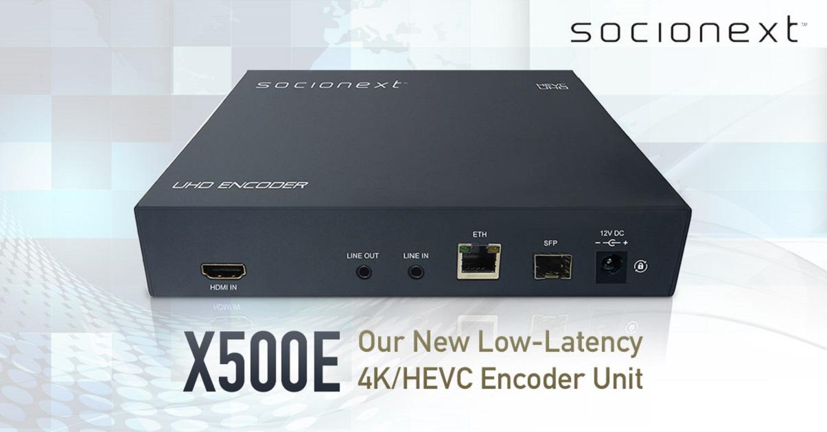 Socionext Starts Shipping of Low-Latency 4K/HEVC Encoder